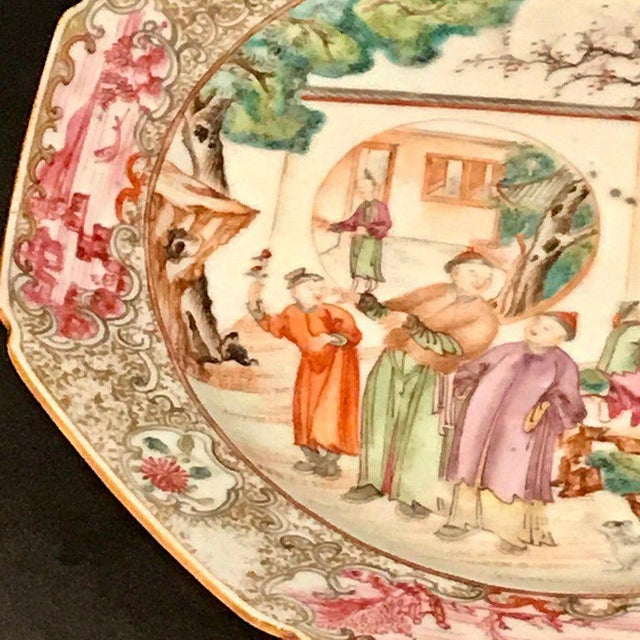 18th Century Chinese Export Famille Verte Octagonal Plate For Sale - Image 4 of 13