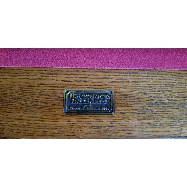 2000 - 2009 Brunswick Centennial Craftsman Pool Table For Sale - Image 5 of 8