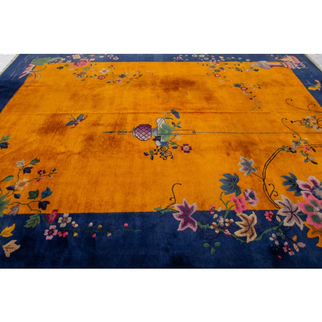 """Apadana-Antique Chinese Rug, 8'10"""" X 11'10"""" For Sale In New York - Image 6 of 10"""