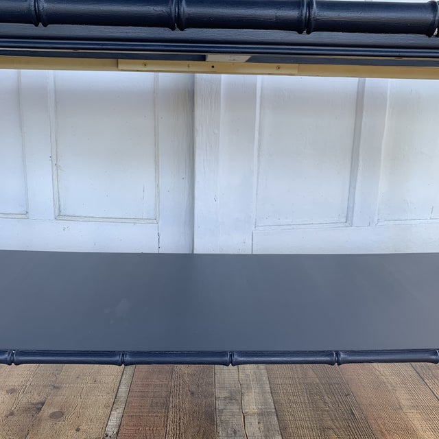 Wood Thomasville Allegro Console Sofa Table Painted Navy For Sale - Image 7 of 11