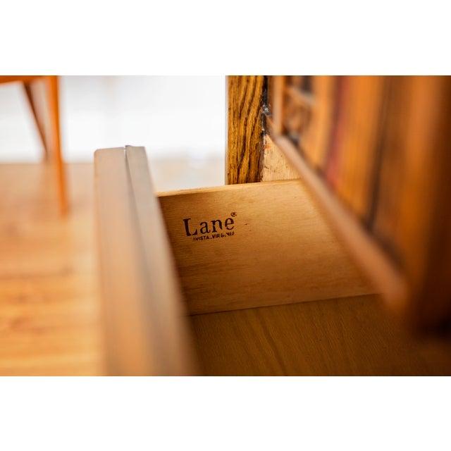 "1970s 1970s Lane ""Pueblo"" Brutalist Armoire Dresser For Sale - Image 5 of 6"