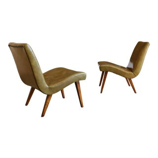 Mid Century Jens Risom for Knoll Early Lounge Chairs - a Pair For Sale