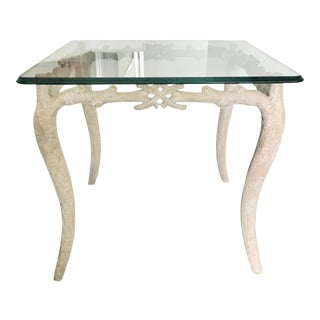 Faux Branch Metal Base Side Table For Sale