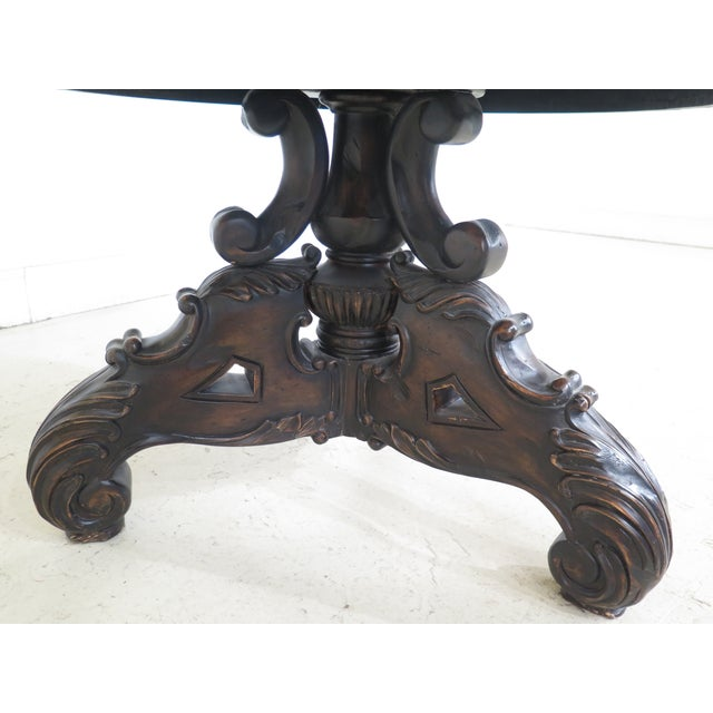 Maitland Smith Carved Mahogany Revolving Bookcase For Sale In Philadelphia - Image 6 of 10