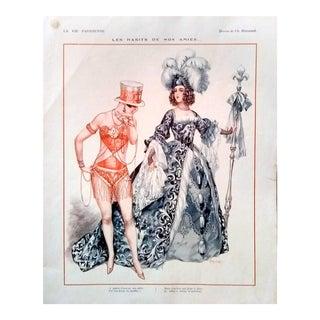 """Herouard 1927 """"Les Habits De Nos Amies..."""" La Vie Parisienne Print"""