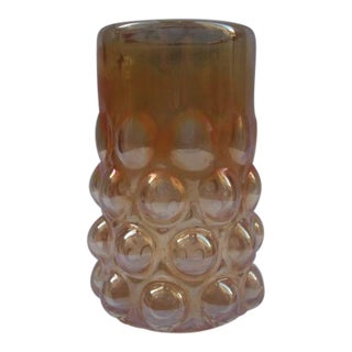 Marigold Carnival Glass Bubble Vase For Sale