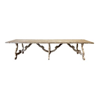 Large Italian Tuscan Painted Dining Table For Sale