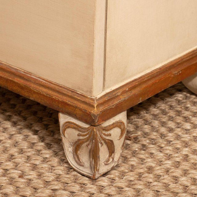 Wood Pair of Directoire Style Painted Bedside Tables For Sale - Image 7 of 9