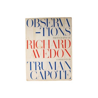 "1950s Vintage Richard Avedon ""Observations"" With Commentary by Truman Capote For Sale"
