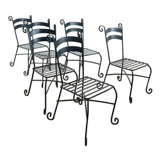 Black Iron Side Chairs - Set of 6