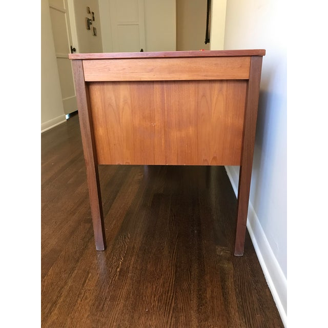 Domino Mobler Danish Modern Teak Desk For Sale - Image 4 of 5