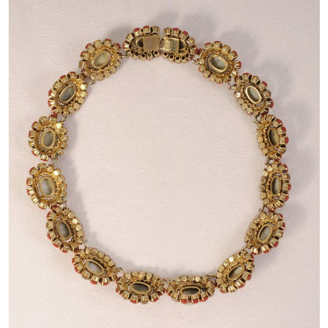 Modern 1964 Vintage Christian Dior Jeweled Necklace For Sale - Image 3 of 5