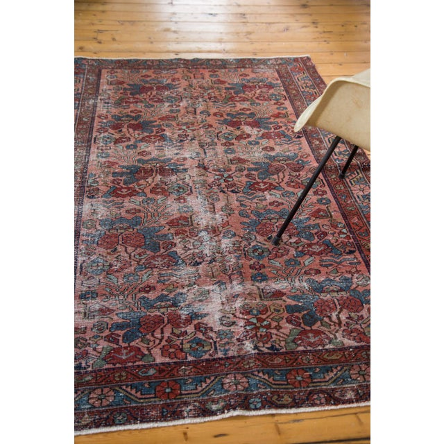 "Distressed Antique Lilihan Rug - 4'3"" X 6'5"" - Image 7 of 8"