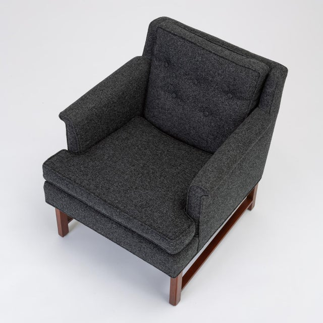 1950s Pair of Petite Lounge Chairs by Edward Wormley for Dunbar For Sale - Image 5 of 13