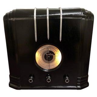 Ebony Sparton 517-B Radio Walter Dorwin Teague Art Deco Design For Sale