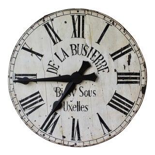 Antique Belgian Wooden Clock For Sale
