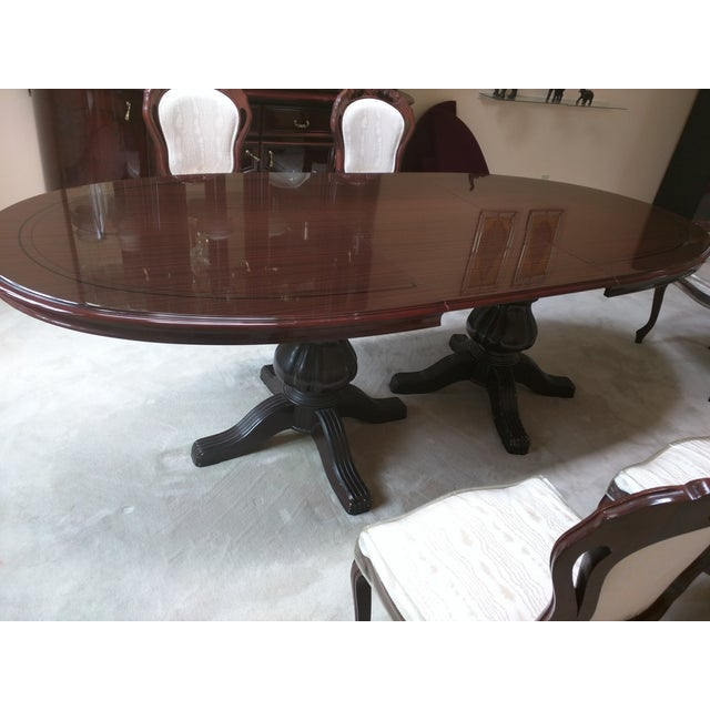 Classic Adjustable Dining Table & 6 Chairs - Image 4 of 8