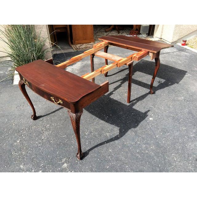 Mahogany & Leather Writing Desk - Image 4 of 9