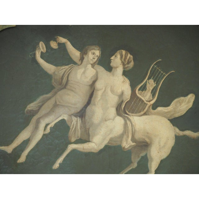 Traditional Pair of Grisaille Paintings of Classical Figures For Sale - Image 3 of 9