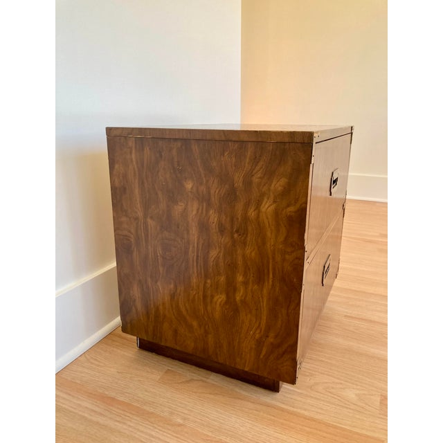Late 20th Century Late 20th Century Dixie Campaign Nightstand For Sale - Image 5 of 12