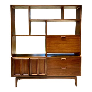 Vintage Mid-Century Modern Bookcase or Room Divider Wall Unit