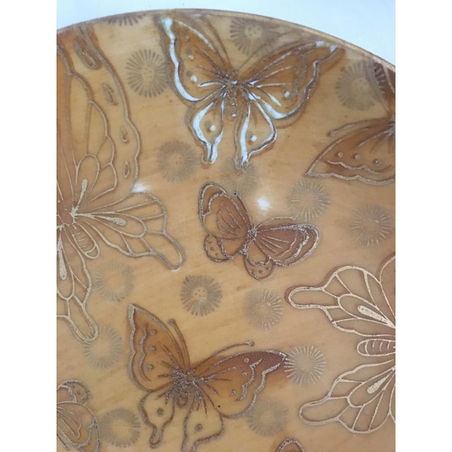 1960s Mid-Century Dorothy Thorpe Gold Butterfly Bread and Butter Plates - Set of 4 For Sale - Image 5 of 6