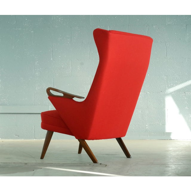 Svend Skipper Attributed 1950s Papa Bear Style Lounge Chair For Sale - Image 5 of 8