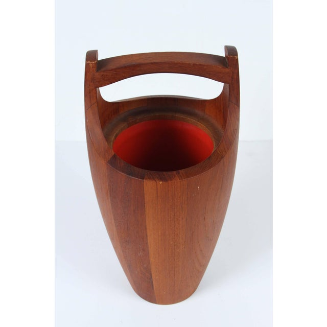 Jens Harald Quistgaard Vintage Teak Ice Bucket Designed by Jens Quistgaard For Sale - Image 4 of 7