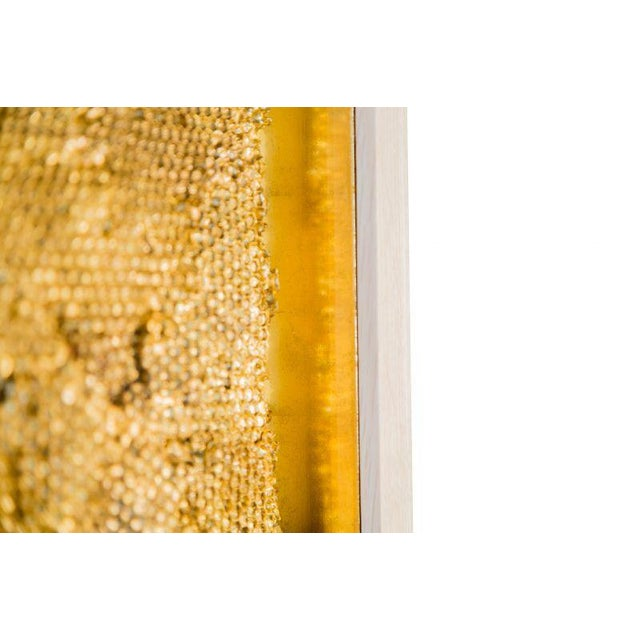 Tapestry Triptych is composed of three panels of layered plaster honeycomb, gilded and highly patinated. The overlapping...