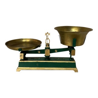 19th Century Cast Iron & Brass Balance Scale For Sale