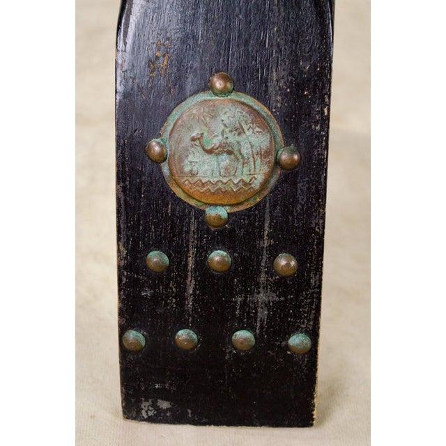 Vintage Egyptian Camel Saddle Stool For Sale - Image 12 of 13