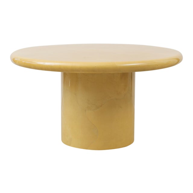 f866a4d2684 Stunning Center or Dining Table in Lacquered Parchment by Karl Springer