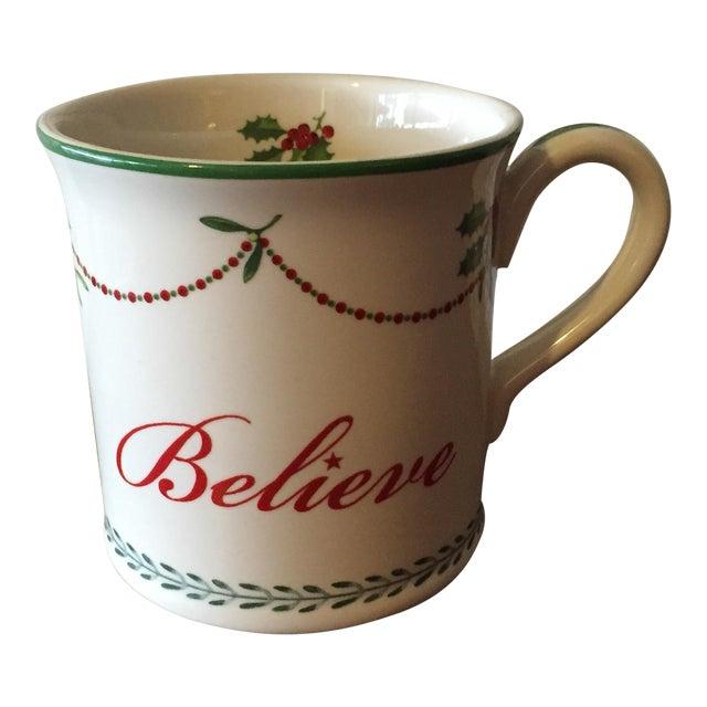 "Spode ""Believe"" Christmas Tree Mug - Image 1 of 6"