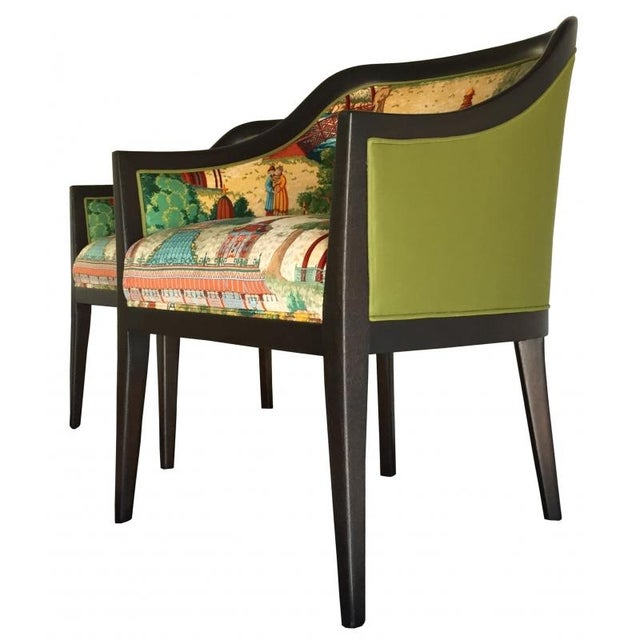 Vintage Chinoiserie Side Chairs - Pair - Image 2 of 3