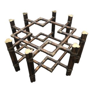 McGuire Rattan Coffee Table Base For Sale