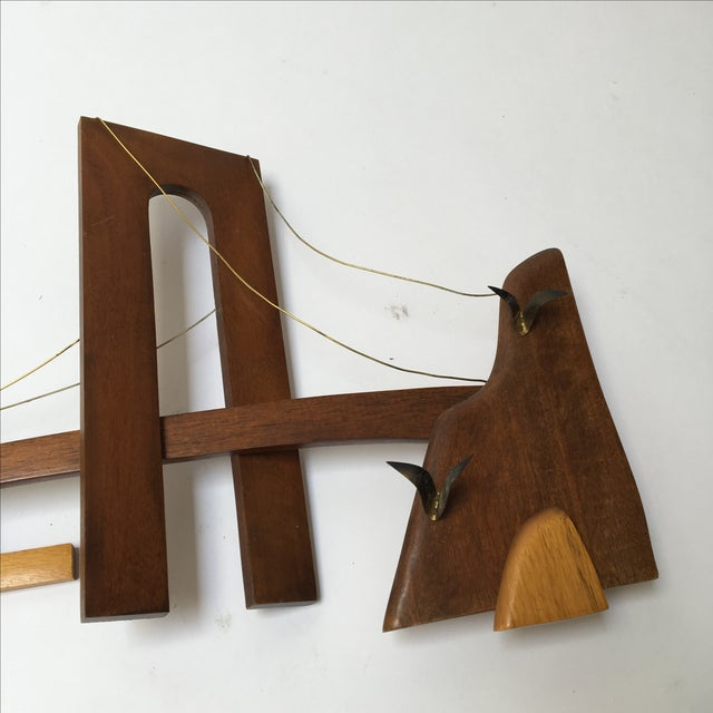 Vintage Wooden Wall Sculpture - Image 5 of 10