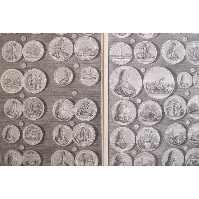 Original 1745 British Engravings, Royal Medals - A Pair - Image 3 of 9