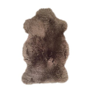 "Gray Sheepskin Rug -- 2'4"" x 3'4"" For Sale"