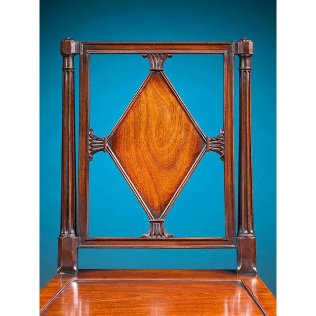 Mid 18th Century George III Mahogany Hall Chairs - A Pair For Sale - Image 5 of 6
