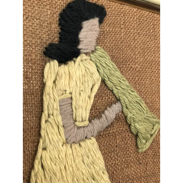 Mid-Century Embroidered Tapestry of Musicians For Sale - Image 11 of 13