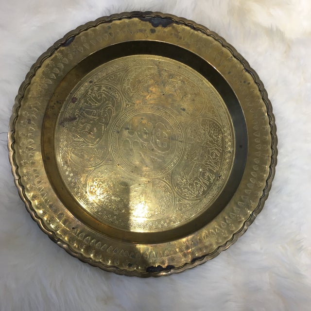 Vintage Brass Tray With Animal Scene - Image 6 of 6