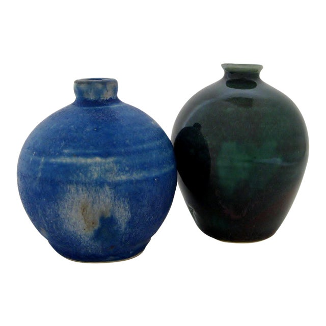 Petit Ceramic Vases - A Pair For Sale