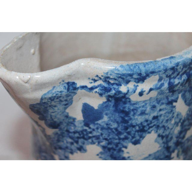 Cottage 19th Century Design Sponge Ware Pitcher For Sale - Image 3 of 8