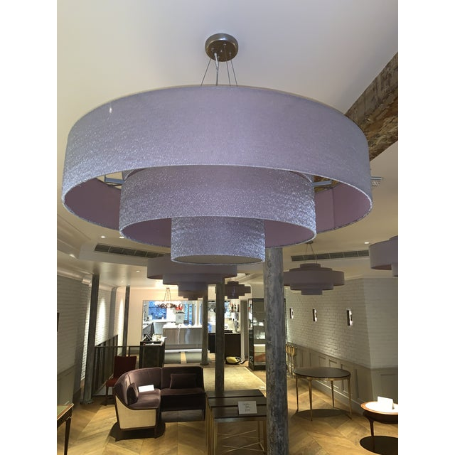 Gorgeous Ochre Cloud Chandelier in Rose Color. In Perfect Condition