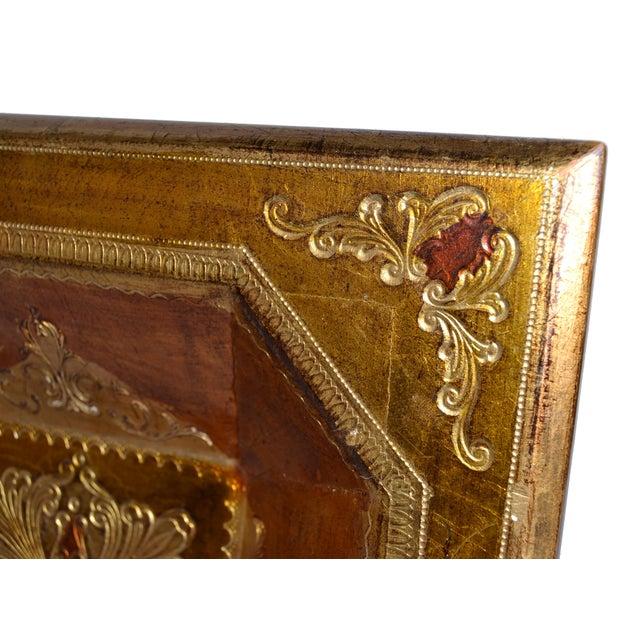 Giltwood Vintage Florentia Tole Gilt Wood Bowl For Sale - Image 7 of 8