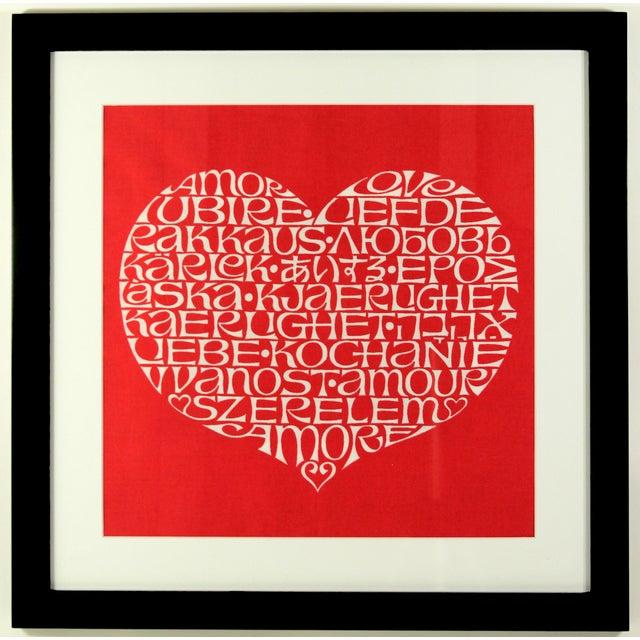 International Heart Textile Art by Alexander Girard - Image 2 of 3