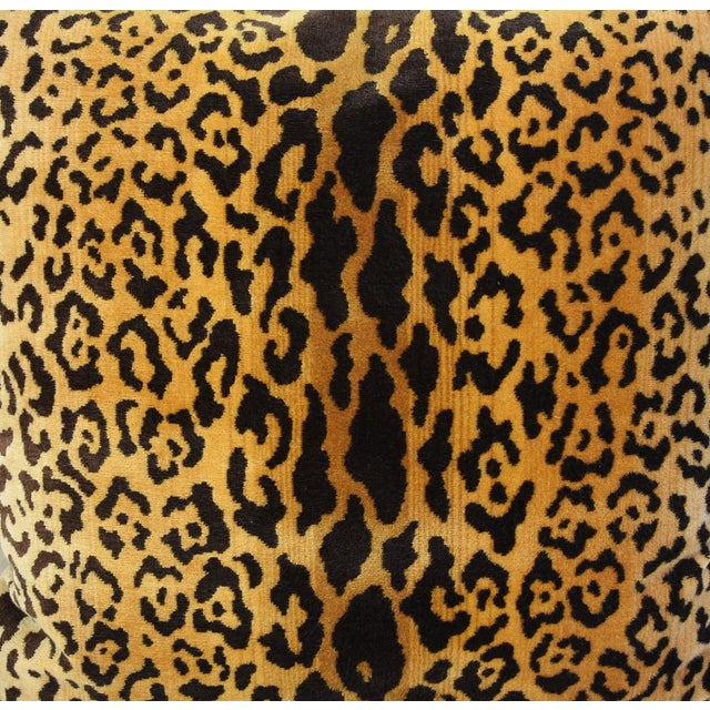 Scalamandre Leopardo Leopard & Mohair Feather/Down Pillows - a Pair For Sale - Image 5 of 11