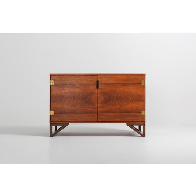 Scandinavian Modern Svend Langkilde Cabinet in Rosewood and Brass - 1950 For Sale - Image 6 of 11