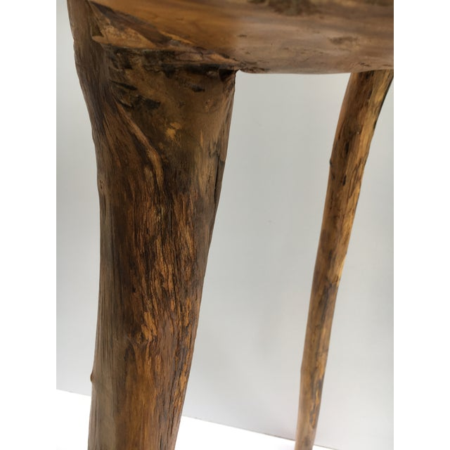 Organic Modern Tree Root Wood Pedestal Table For Sale In Miami - Image 6 of 8