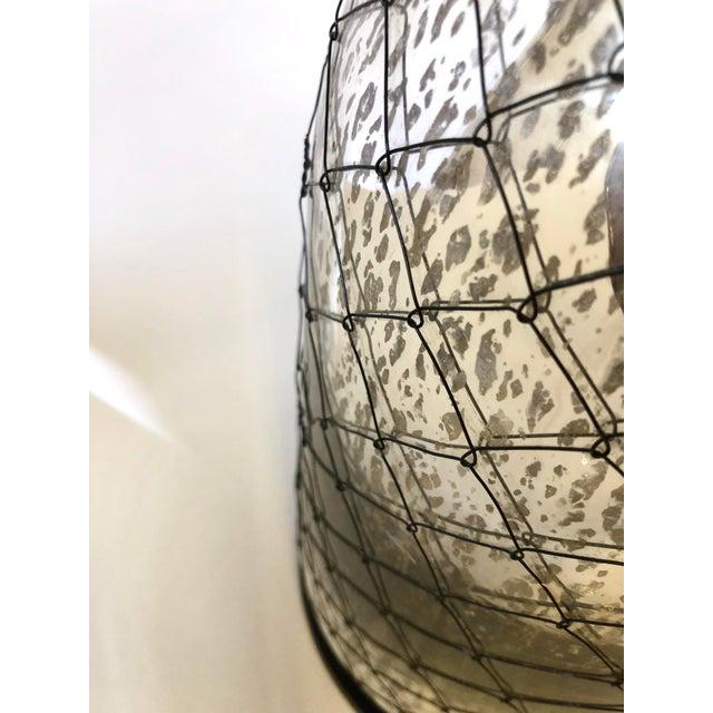 Coastal Inspired Mercury Glass Lamp For Sale - Image 9 of 10